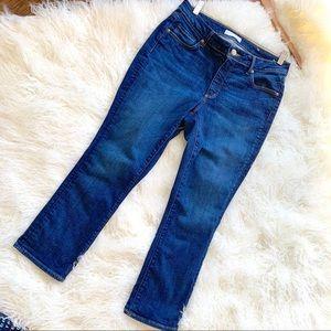 LIKE NEW Loft  Curvie Kick Crop Jeans Size 8